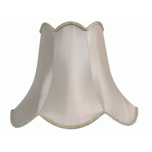 "Oaks Lighting Scallop Pastel Shade 20"", Soft Grey"