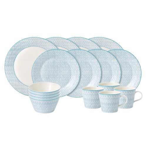 Royal Doulton Herringbone 16 Piece Dinner Set