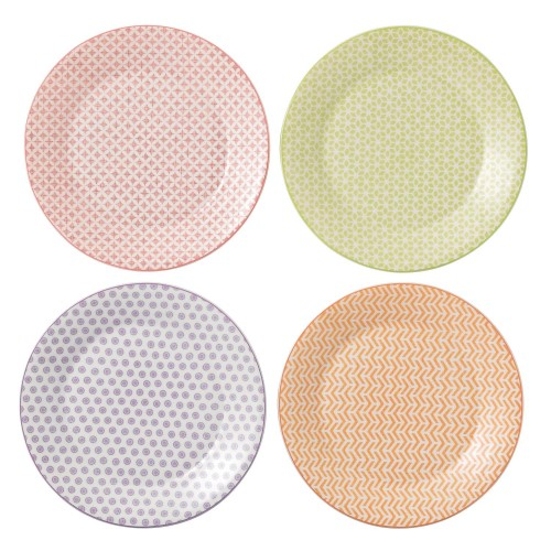 Royal Doulton Accent Set Of 4 Plates, 23cm
