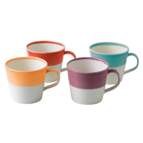 Royal Doulton Bright's Set Of 4 Mugs, 0.45ltr