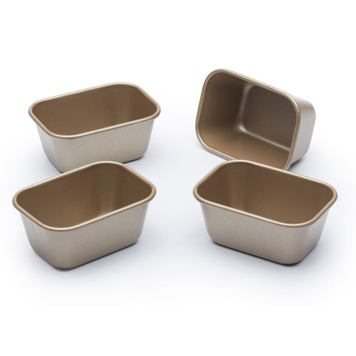 Kitchencraft Paul Hollywood Mini Loaf Tins 4 piece Non stick