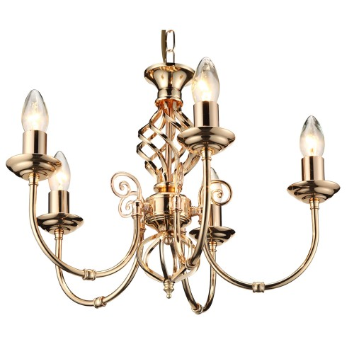 Casa Provence 5 Light, French Gold