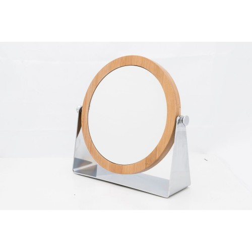 Danielle Round Bamboo Stand Mirror
