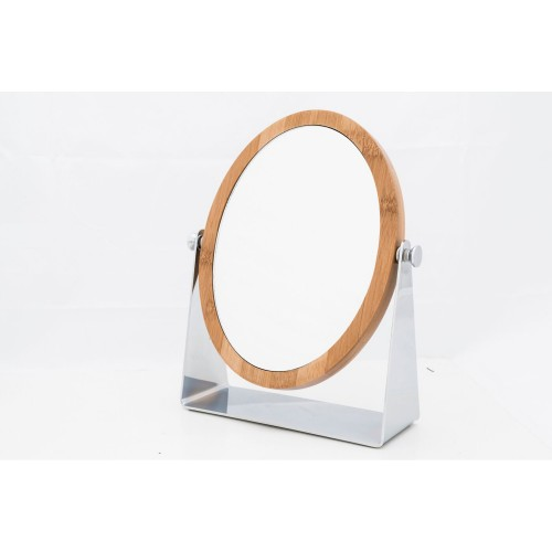 Danielle Oval Bamboo Stand Mirror