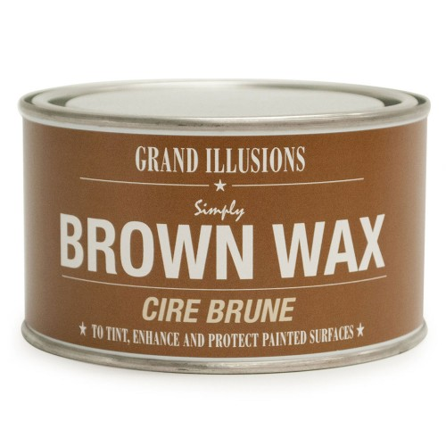 Vintage Paint Simply Wax Brown 400g, Brown