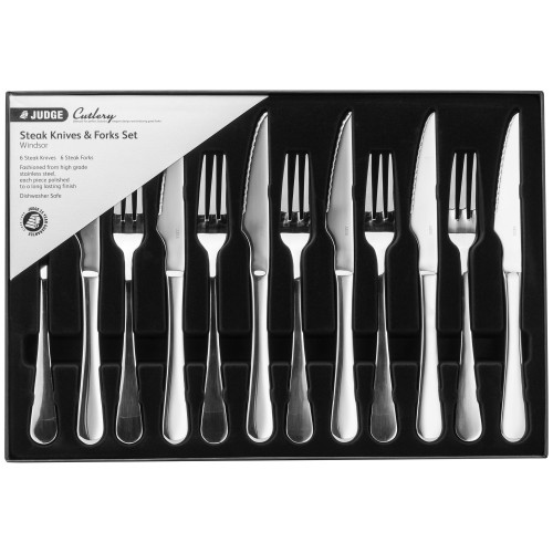 Judge Windsor Steak Set, Stainless Steel