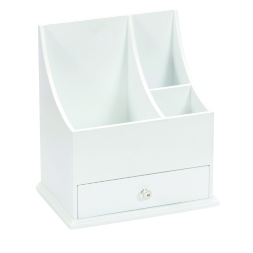 Lionite Mele White Wooden Cosmetic Organiser