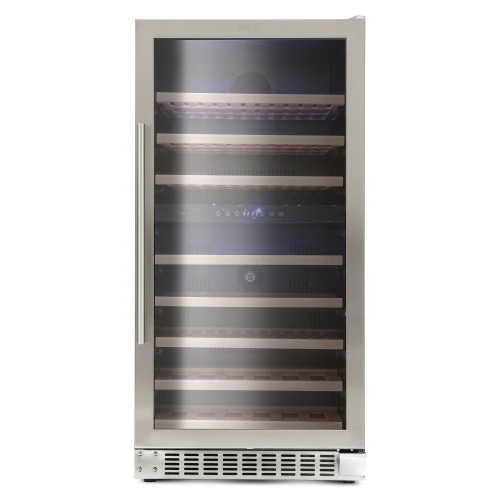 Montpellier 94 Bottle Wine Cooler, Stainless Steel