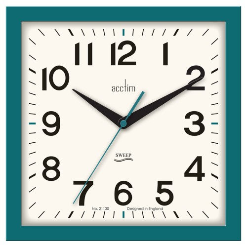 Acctim Rydon Wall Clock, Storm Blue