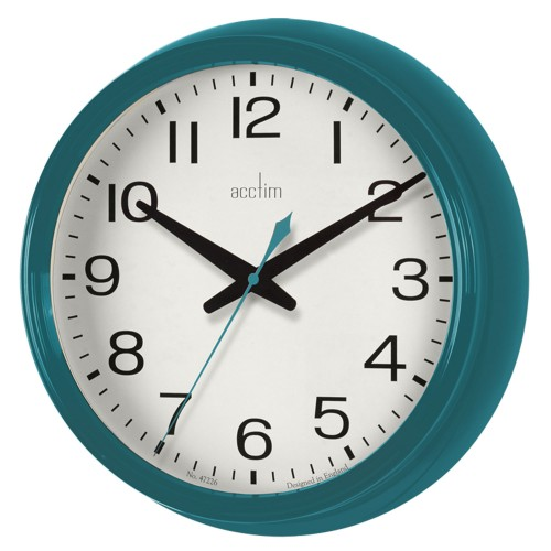 Acctim Penford Wall Clock, Storm Blue