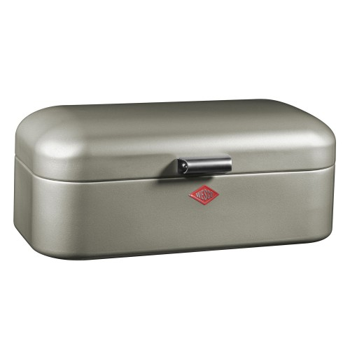 Wesco Grandy Bread Bin, New Silver