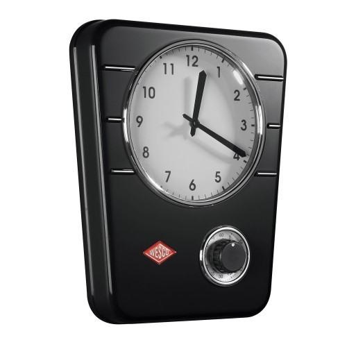 Wesco Kitchen Clock, Black