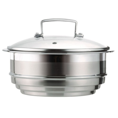 Le Creuset 3ply Multi Steamer W Glass Lid, Stainless Steel