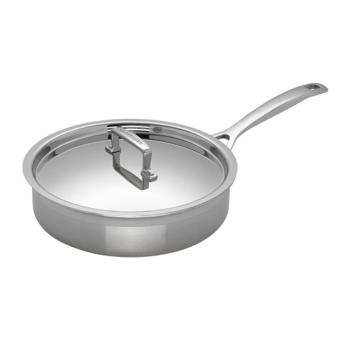 Le Creuset Sig Ss 24cm Sauté Pan With Lid, Stainless Steel