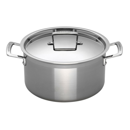 Le Creuset Signature 20 Deep Casserole Dish, Stainless Steel