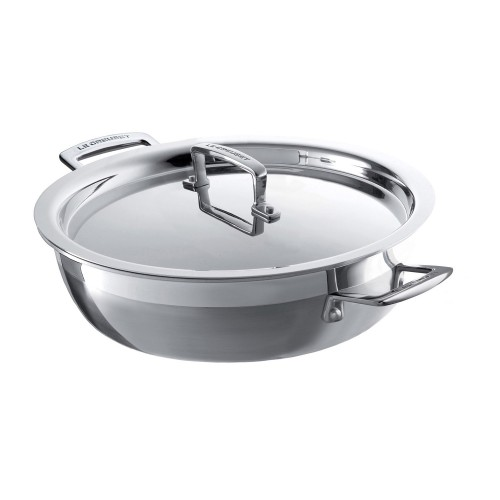 Le Creuset Signature 30 Shallow Casserole Dish, Stainless Steel