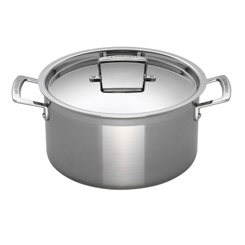 Le Creuset Sig Ss 24cm Casserole With Lid, Stainless Steel