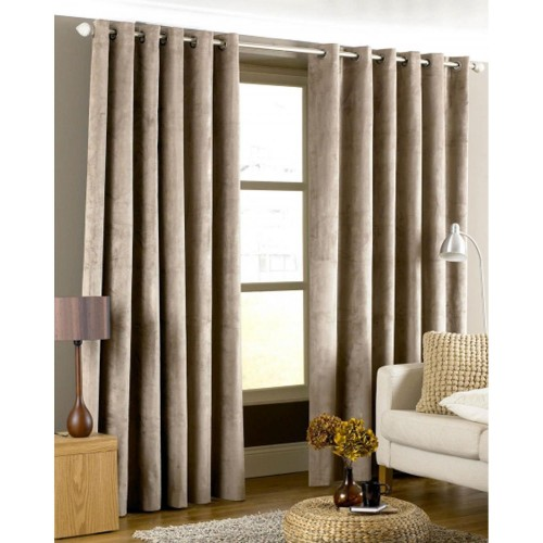 Riva Paoletti Ready Made Curtains Imperial Eyelet 168x229cm,Taupe