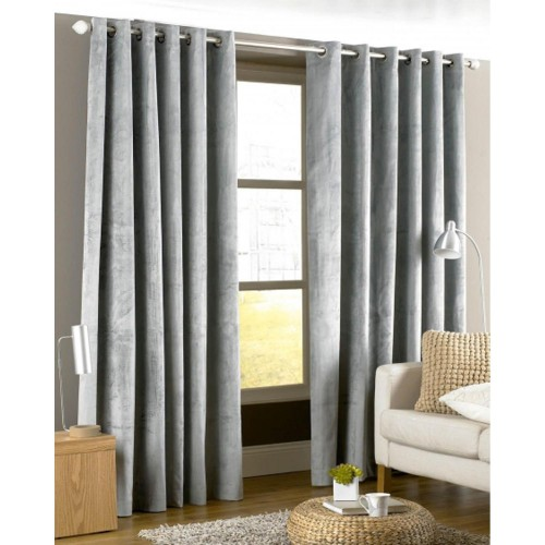 Riva Paoletti Ready Made Curtains Imperial Eyelet 229x229cm,Silver
