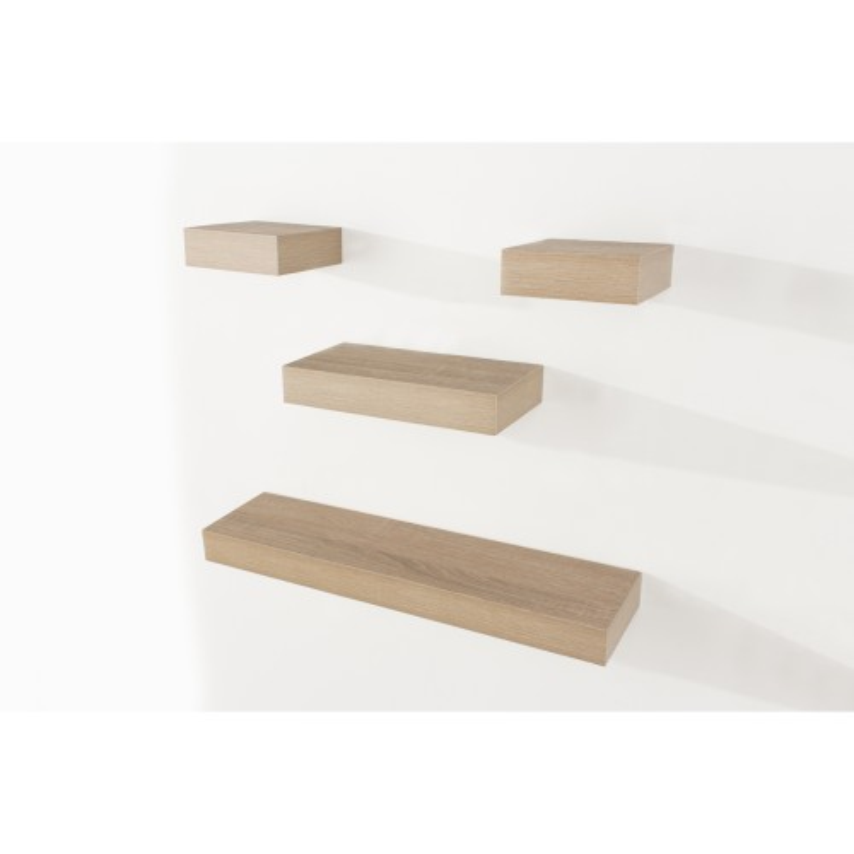 Core Products Narrow Oak Shelf Set of 4