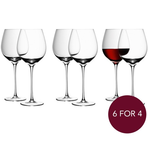 Lsa Red Wine Glasses 750ml, Clear