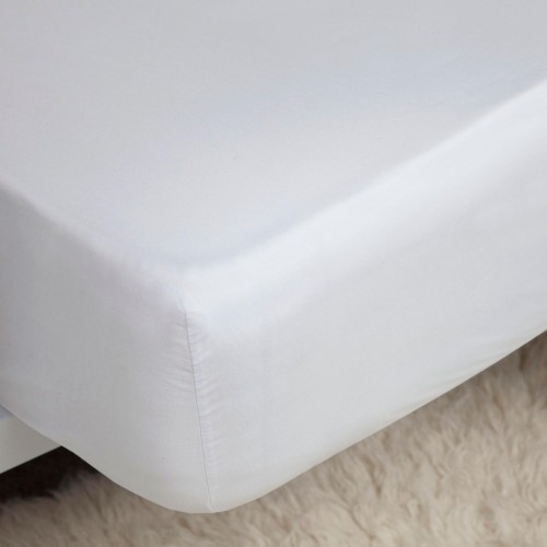Belledorm Egyptian Cotton Fitted Sheet, Double,White