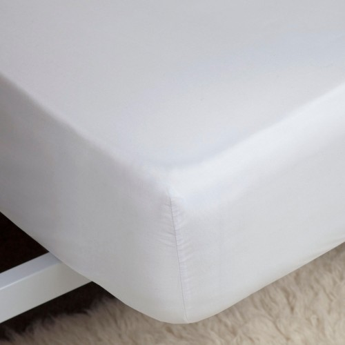 Belledorm Egyptian Cotton Fitted Sheet,Double, White