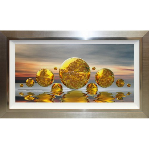 Complete Colour Planet Reflections Liquid Art, Gold