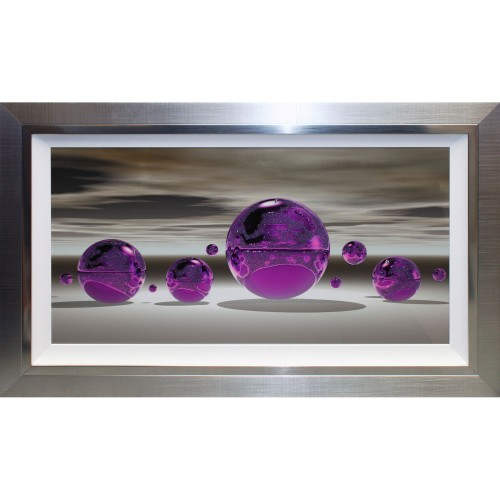 Complete Colour Purple Sphere Liquid Art