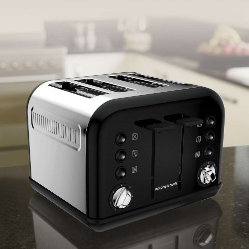 Morphy Richards Accents 4 Slice Toaster, Black