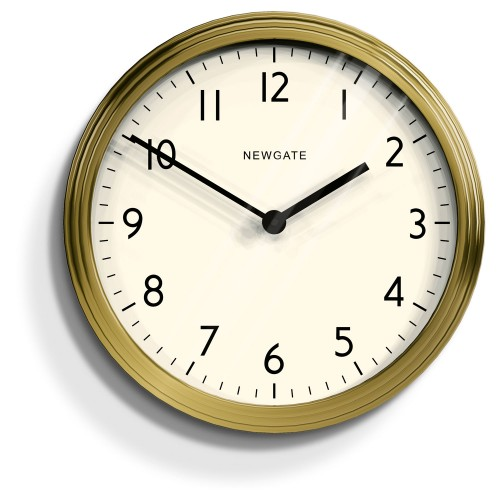 Newgate Clocks Spy Wall Clock, Radial Brass