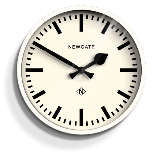Newgate Clocks Luggage Wall Clock, Gloss White