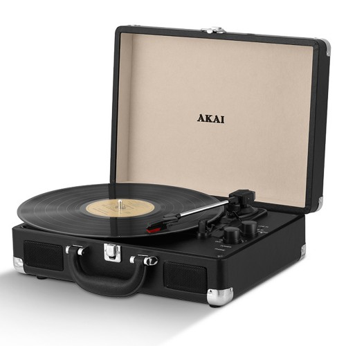 Akai Bluetooth Record Player, Black