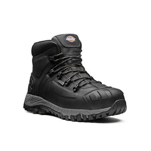 Dickies Size 8 Medway Safety Boot, Black