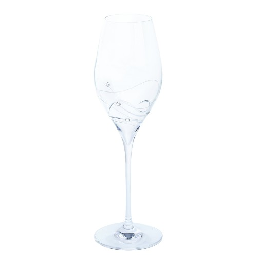 Dartington Crystal Glitz Prosecco Glasses Pair, Clear