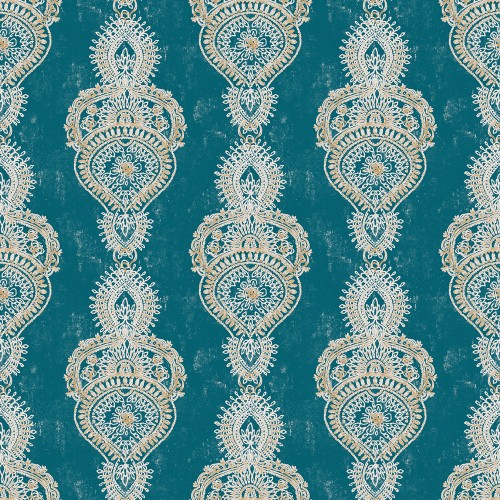 Galerie Exotic Print Wallpaper, Turquoise