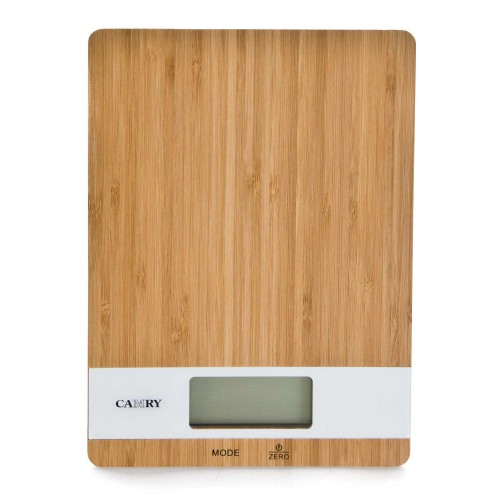 Casa Electronic Kitchen Scales, Bamboo/white