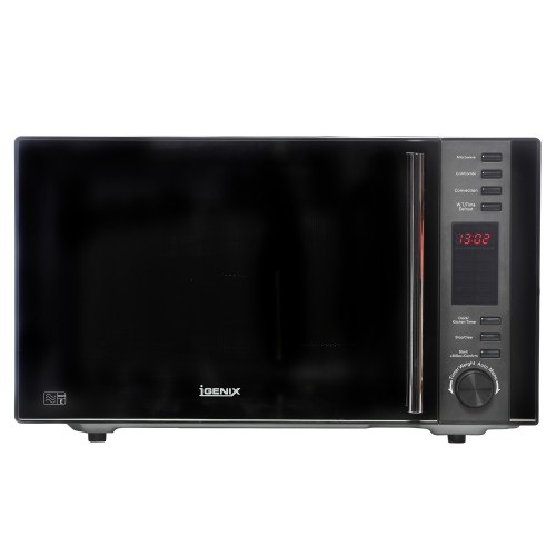 igenix 900w combi microwave black leekes. Black Bedroom Furniture Sets. Home Design Ideas