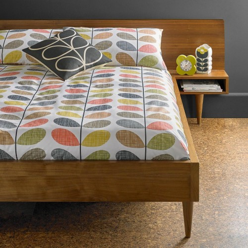 Orla Kiely Scribble Stem Duvet Cover, Double, Multi