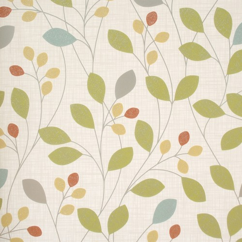 Belgravia Isla Retro Trail Citrus Wallpaper