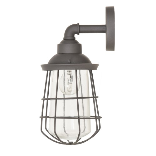 Garden Trading Finsbury Wall Light, Charcoal Steel