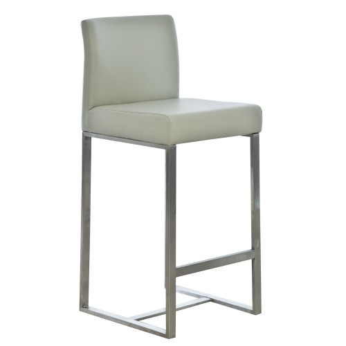 Casa Indus Bar Stool - Light Grey Stool, Light Grey
