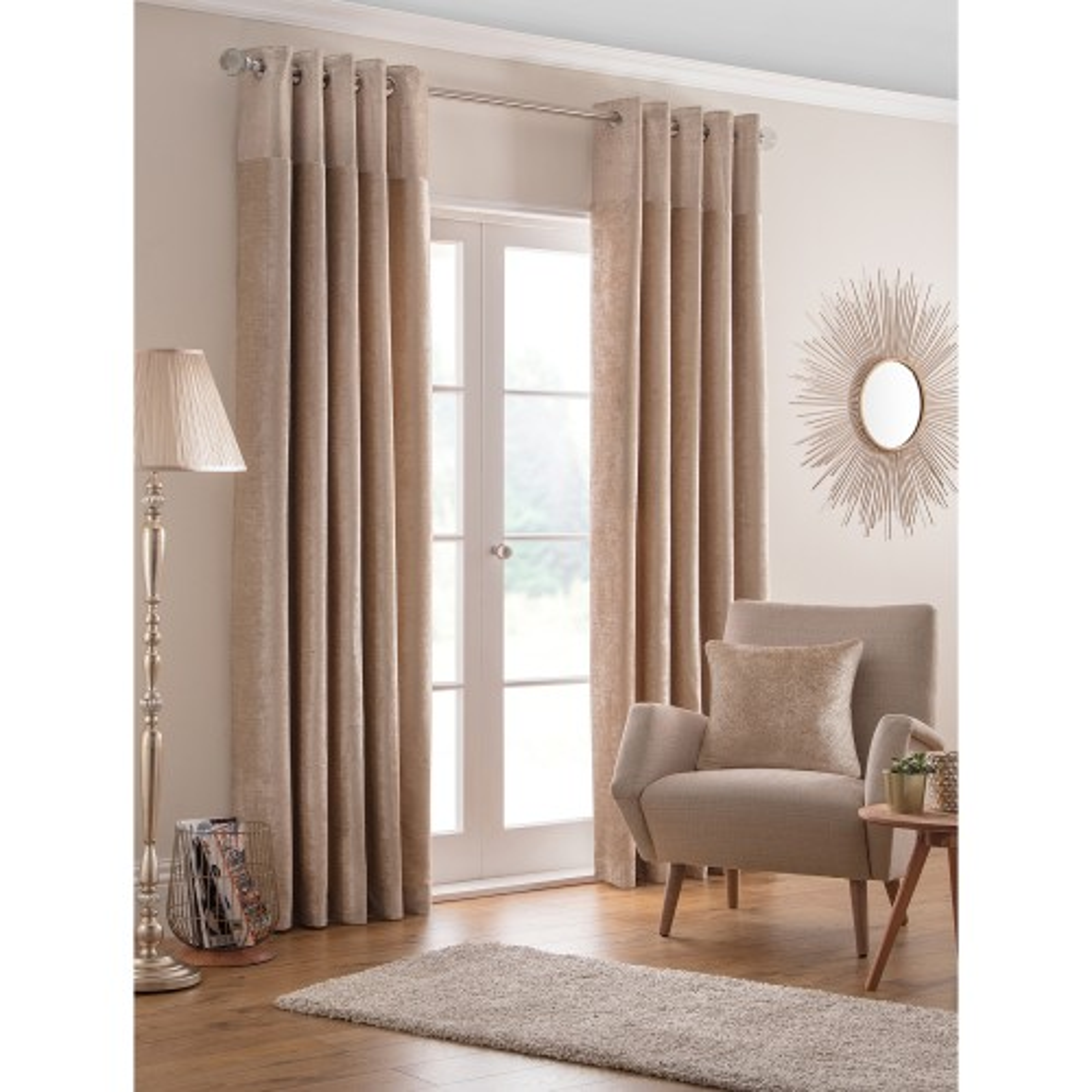 Belfield Design Studio Nova Curtains 168x229cm Champagne