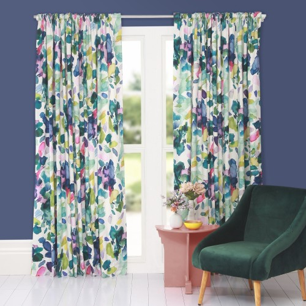 Bluebellgray Palette Curtains 228x228cm, Multi