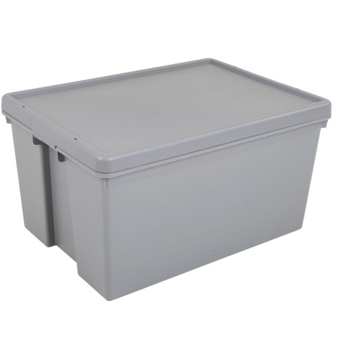 What More 62l Storage Box And Lid Grey