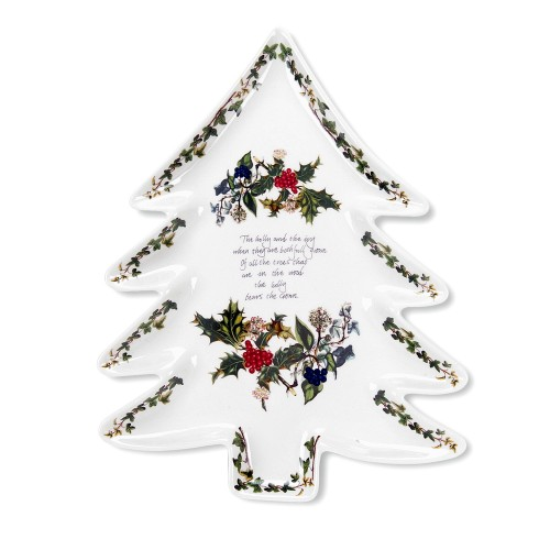 Portmeirion The Holly and The Ivy Christmas Tree Plate
