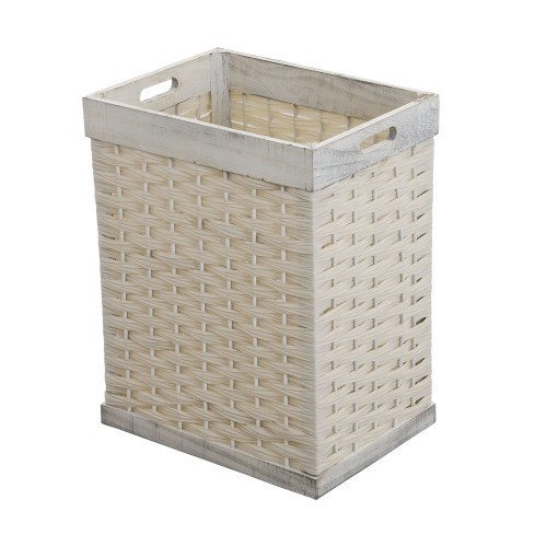 Casa Small Weave Basket, Washed White