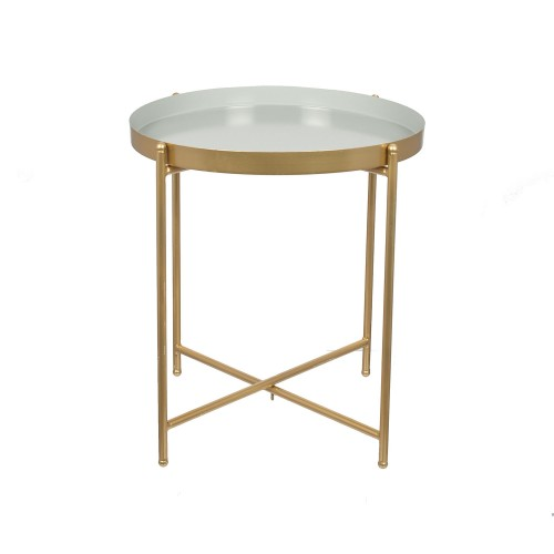 Gold Metal Round Coffee Table.Pacific Lifestyle Light Grey Gold Metal Round Side Table Small