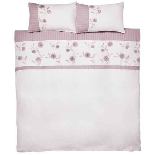 Catherine Lansfield Grace Duvet Set, Double, Natural