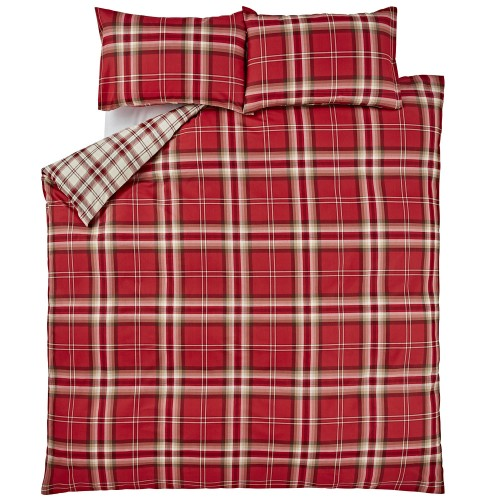 Catherine Lansfield Kelso Duvet Set, Double, Red